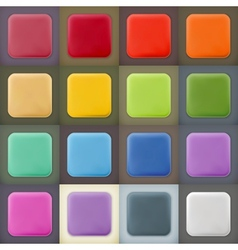 Square empty blanks web icons and buttons vector image