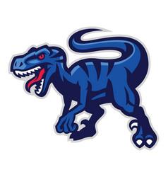 velociraptor mascot vector image vector image