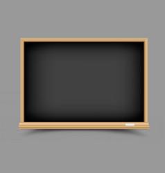 black empty blackboard vector image