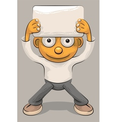 boy and sheet of paper vector image vector image