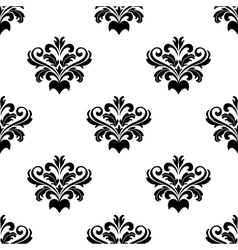 Foliate arabesque pattern for damask vector image