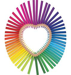 pencils heart vector image