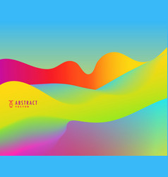 Abstract background colorful waves vector