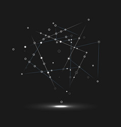 Abstract technology structure dark network vector