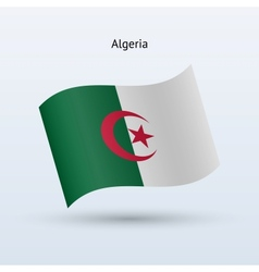 Algeria flag waving form vector