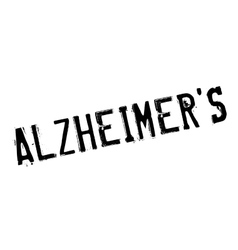 Alzheimer rubber stamp vector