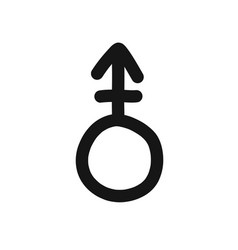 Androgynous symbol doodle icon line vector