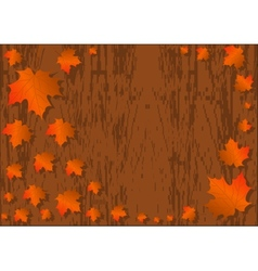 Autumn maple leaves background colorful maple vector