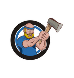 Axe throwing logo vector