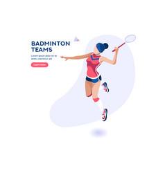 Badminton player character vector