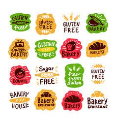 Bakery house gluten free logo vector