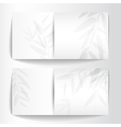 Banners with bamboo trees vector image