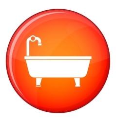 Bathtub icon flat style vector