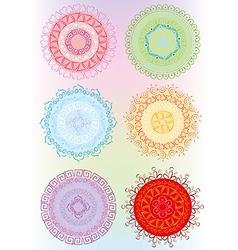 Beautiful ornament in color vector