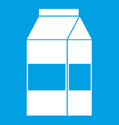 box of milk icon white vector image