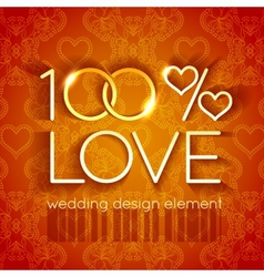 Bright gold wedding design element vector image