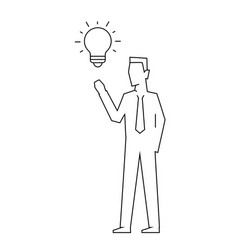 businessman has an idea on white background vector image
