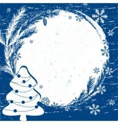 Christmas border design element vector image