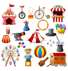 Circus equipment collection set vector