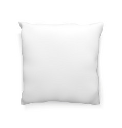 clean pillow mock-up template for design vector image