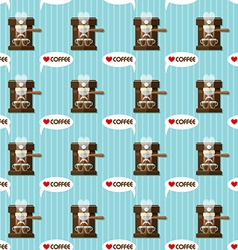 coffee machine and coffee cups seamless pattern vector image