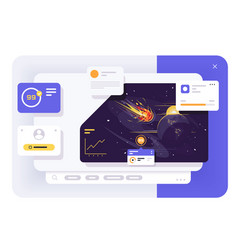 comet ui dashboard vector image