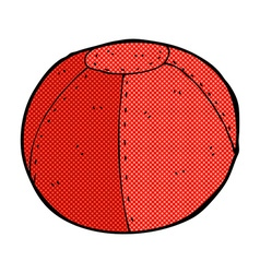 Comic cartoon old stitched football vector