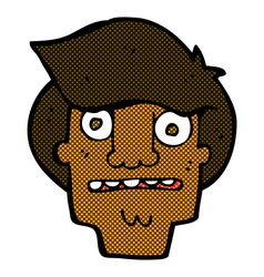 comic cartoon shocked face vector image