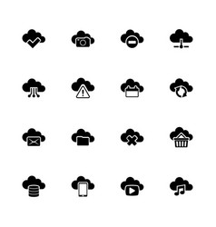 computing cloud - flat icons vector image