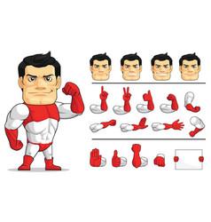 Customizable mascot super hero strong vigilante vector