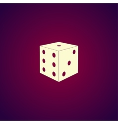 Dices sign icon Casino game symbol vector image