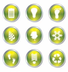 eco gel icons vector image vector image