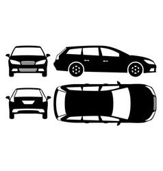 Estate car silhouette vector