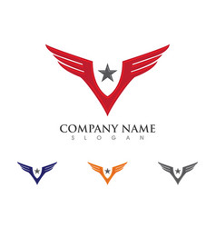 falcon eagle bird logo template icon vector image