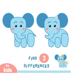 Find differences elephant vector