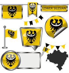 flag lower silesian poland vector image