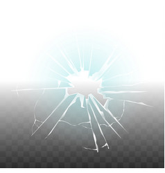 glass broken because of bullet shot transparent vector image