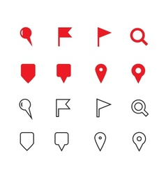 GPS and Navigation icons on white background vector image