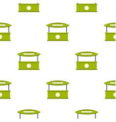 Green tent shop pattern seamless vector