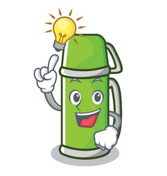 Have an idea thermos character cartoon style vector
