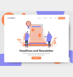 headlines and newsletter concept vector image