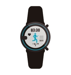 heartrate wrist monitor icon vector image