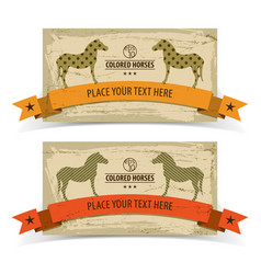 horses banners set vector image