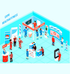 Isometric expo vector