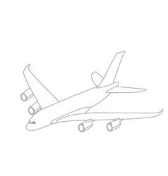 large passenger plane vector image