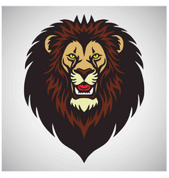 lion head roar mascot logo design cartoon vector image