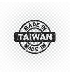 Made in taiwan stamp on isolated background vector