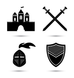 Medieval Icons Set vector