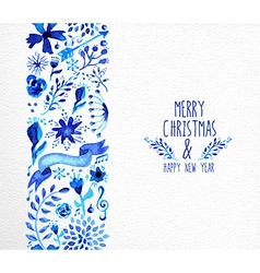 Merry Christmas hand drawn seamless pattern vector