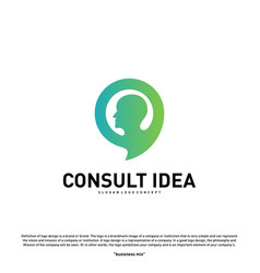 modern business consulting agency logo design vector image